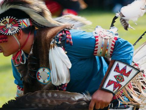 Powwow annuel organisé par le musée des Indiens des Plaines