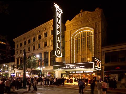 Le Buffalo Theater qui accueille différentes pièces lors de l'événement Curtain Up!