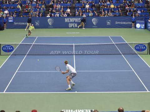 Un match fabuleux lors du tournoi de tennis de Memphis