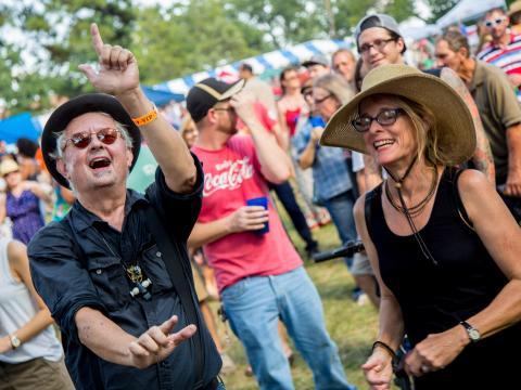 VIP enthousiastes au Highland Jazz and Blues Festival
