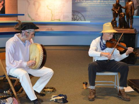 Musique traditionnelle lors du Lewis and Clark Music Festival