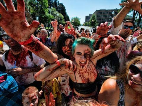 Les festivaliers savent se mettre dans l'ambiance du Zombiefest