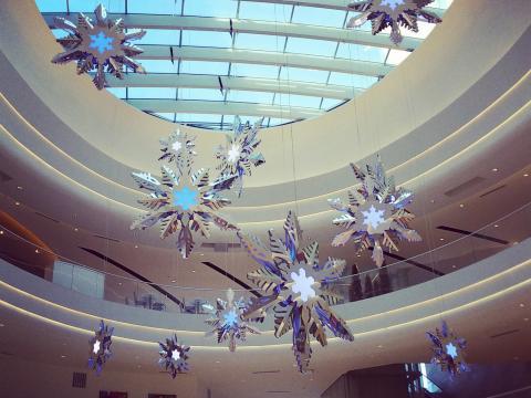 Le centre commercial Mall of America joliment décoré à l'occasion des fêtes de fin d'année