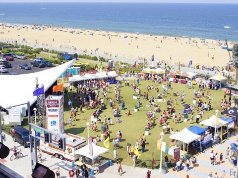 Vue aérienne de l'American Music Festival
