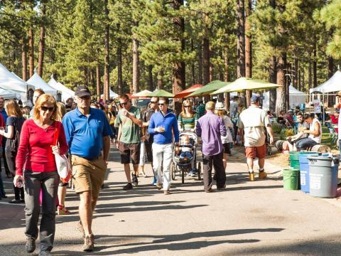 Flânerie au gré des stands lors du festival Sample the Sierra