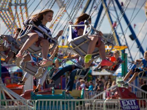 Attractions à sensations fortes lors de l'Illinois State Fair