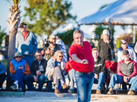 Concours de pétanque lors de l'Open de pétanque d'Amelia Island