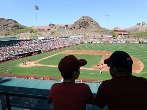 Entraînement de baseball au printemps à Tempe, Arizona