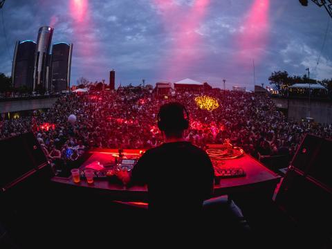 Set de Maceo Plex et Ben Klock lors du festival de musique électronique de Détroit, à Hart Plaza