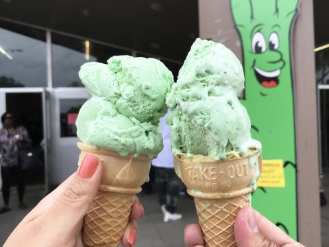 Crème glacée aux asperges à déguster au San Joaquin Asparagus Festival à Stockton