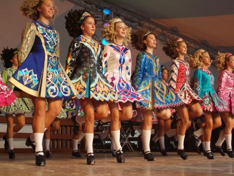 Spectacle de danse irlandaise lors du Dublin Irish Festival dans l'Ohio
