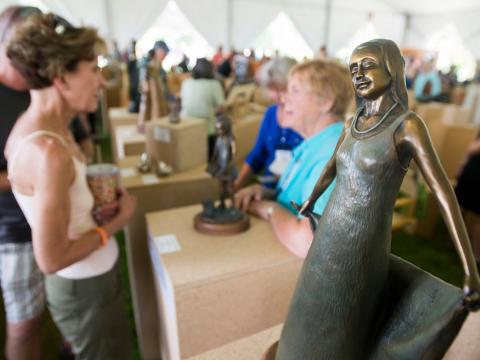 Événement artistique le temps d'un week-end: le Sculpture Show de Loveland, dans le Colorado